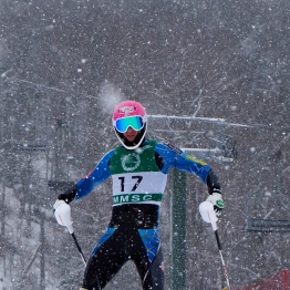 Rubie found the finish line in slalom