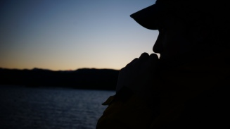 Andrew McNealus enjoying the sunset